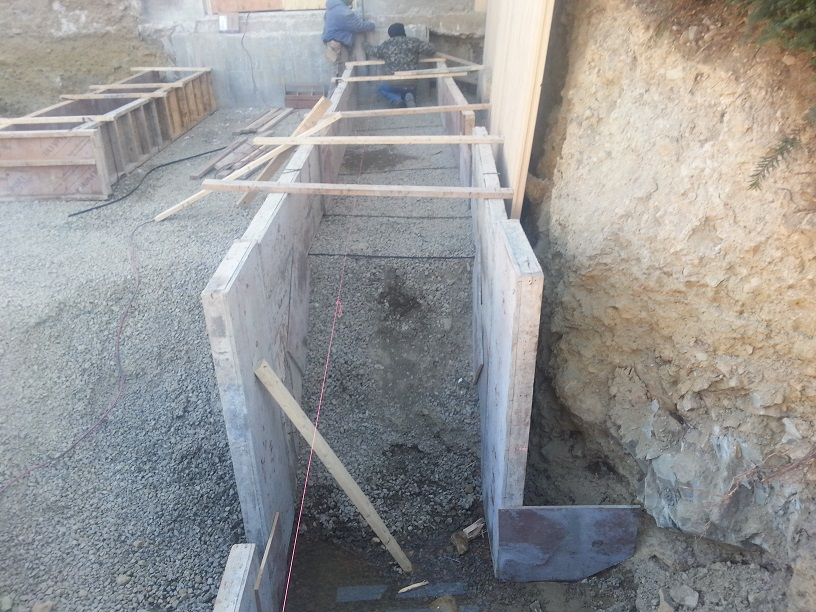 Concrete foundation wall forms related keywords concrete for Concrete basement forms
