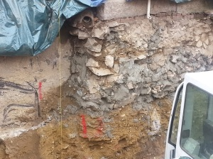 Rubble foundations were not uncommon in 19th century buildings.