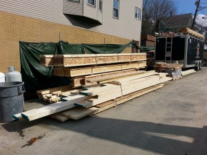 Framing lumber  delivered!