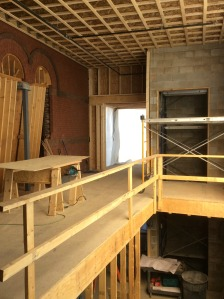 Addition framing for upper level