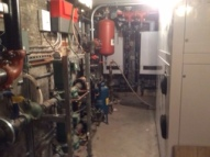 Talk about infrastructure - Our new mechanical room takes much less room than the old boiler room and is filled with energy saving equipment.