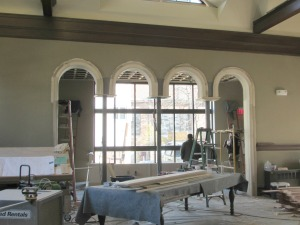 Archways replace northwall windows.