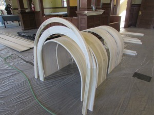 Arches to be installed.