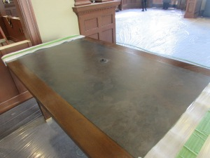 refinished study tables look stunning