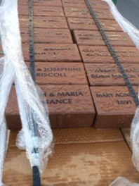 Inscribed bricks have arrived and were put in place.  If you forgot to order your brick, don't worry - it's not too late.  We are preparing a second order.   They are $100 and can be ordered through this website or by contacting the Parlin Library at 617-394-2300.