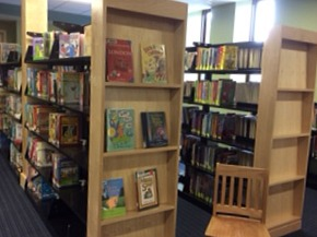 Endpanels finish off shelving in children's